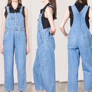 Gap Relaxed Fit Denim Blue Overalls Size Small